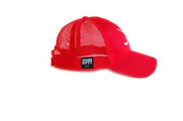 "MASSKOTT Бейсболка ""Basic Logo Net"" Классика сетка красный"