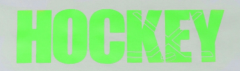 "MASSKOTT Футболка ""HOCKEY Color Wave"" салатовый, белая"