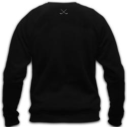 Чёрный хоккейный свитшот MASSKOTT вид со спины