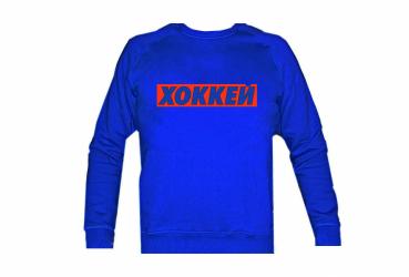 "MASSKOTT Крюнек Свитшот Бокслого ""ХОККЕЙ""  синий-красный"