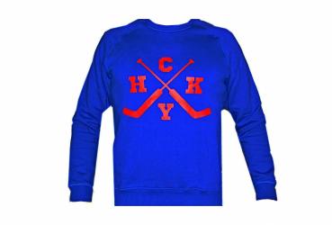 "MASSKOTT Хоккейный свитшот для вратарей ""HoCKeY"" синий-красный"