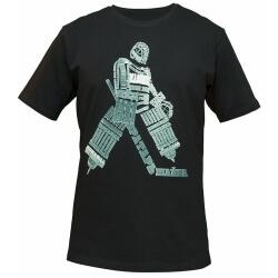 """Чёрная мужская футболка """"Вратарь"""" для хоккейного голкипера"""