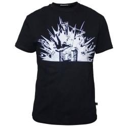 """Чёрная мужская футболка для хоккейного вратаря MASSKOTT """"Сухарь"""""""