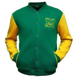 Клубная колледж куртка бомбер MASSKOTT горчичный-зелёный