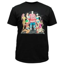 Чёрная мужская футболка с принтом для успешного хоккеиста