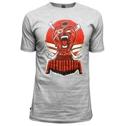 """Мужская хоккейная футболка """"Красная машина"""" серый меланж"""