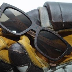 """Солнечные очки в деревянной оправе MASSKOTT & WOODSUN """"Визор"""" для хоккеистов"""