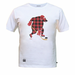 "MASSKOTT Футболка ""Red-Black Bear"" белая"