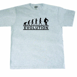 "MASSKOTT Футболка ""EVOLUTION"" серый меланж"