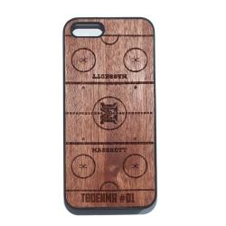 """Чехол для iPhone MASSKOTT """"Площадка"""" с деревянной защитной панелью"""