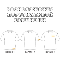 Расположение вышивки или принта на футболке