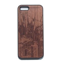 """Чехол для iPhone MASSKOTT """"Хоккейный вратарь"""" с деревянной защитной панелью"""