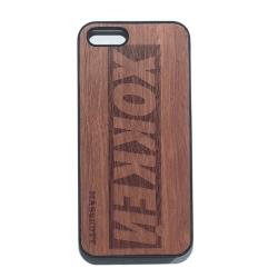 """Чехол для iPhone MASSKOTT """"Хоккей"""" бокслого с деревянной защитной панелью"""