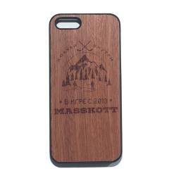"""Чехол для iPhone MASSKOTT """"В Игре"""" с деревянной защитной панелью"""