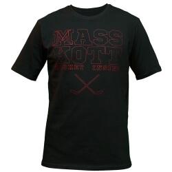 """MASSKOTT Футболка """"Basic Logo"""" чёрный-красный стежок"""