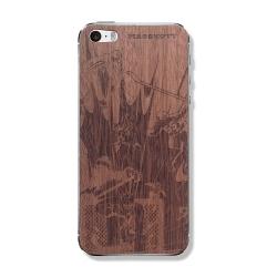 """Защитная деревянная панель для iPhone с гравировкой """"Хоккейный вратарь"""""""