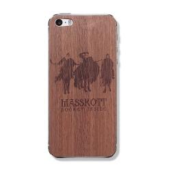"""Защитная деревянная панель для iPhone """"Три хоккейных богатыря"""""""