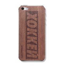 """Защитный деревянный скин (панель) для iPhone с гравировкой принта """"Хоккей"""""""