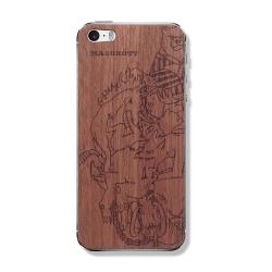 """Защитная деревянная панель на iPhone MASSKOTT """"Хоккейные маскоты 1"""""""