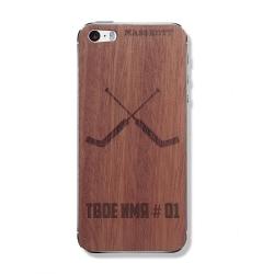 """Деревянная защитная панель из дерева на iPhone MASSKOTT """"Сухарь"""" для вратарей"""