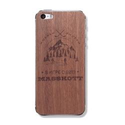 """Деревянная защитная панель для iPhone с гравировкой MASSKOTT """"В игре"""""""