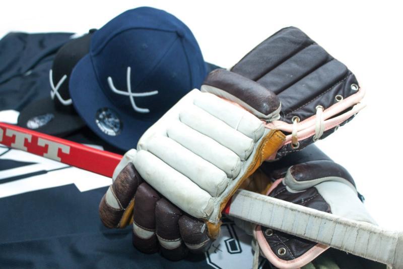 Винтажные хоккейные ретро краги перчатки