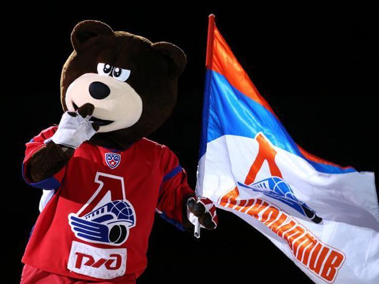 Медведь маскот ХК Локомотив
