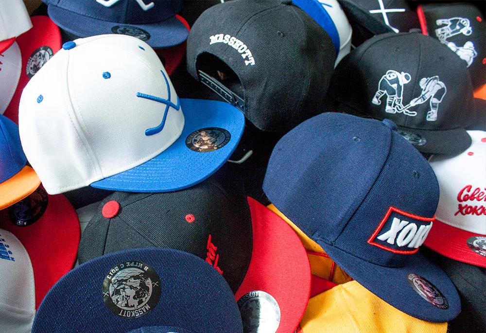 Хоккейные кепки и снэпбэки