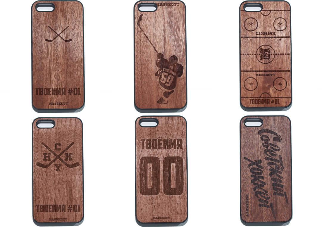 Деревянные именные чехлы для iPhone