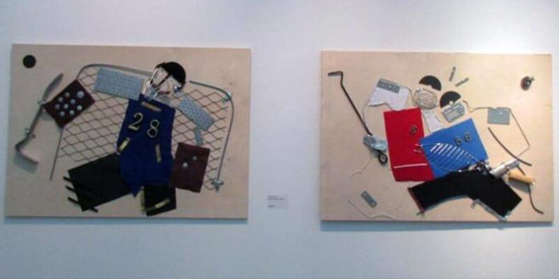 ПЁТР БЫСТРОВ. Скобогравюра, 2016. Выставка Футбол - хоккей в Центре современного искусства Винзавод.