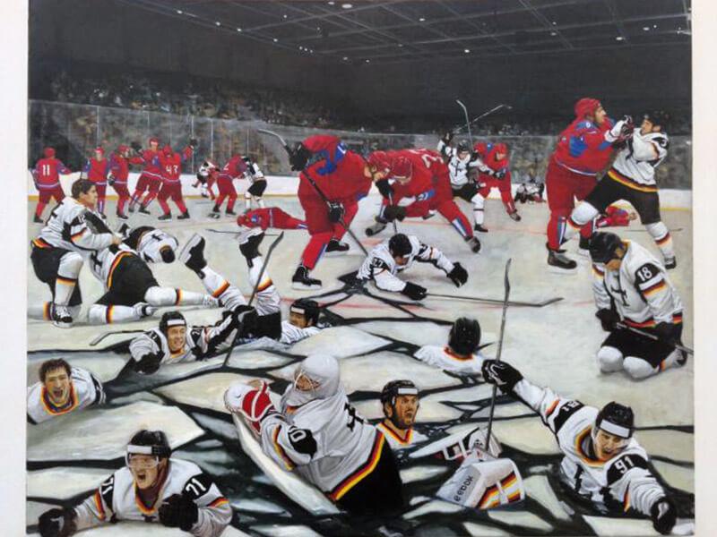 АНТОН КУЗНЕЦОВ. Финал, 2016. Выставка Футбол - хоккей в Центре современного искусства Винзавод.