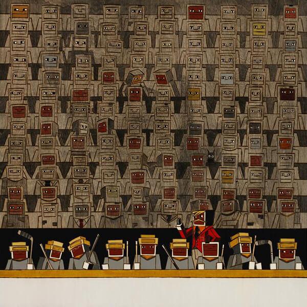 КИРИЛЛ РУБЦОВ. Картина На скамейке, 2012. Выставка Футбол - хоккей в Центре современного искусства Винзавод.