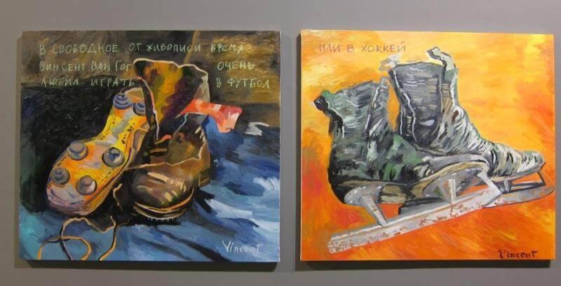 РОСТИСЛАВ ЛЕБЕДЕВ. Выставка Футбол - хоккей в Центре современного искусства Винзавод.