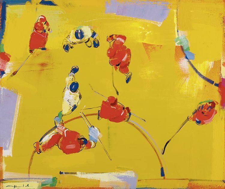 АЛЕКСЕЙ ЛАНЦЕВ. Хоккей», 2016. Выставка Футбол - хоккей в Центре современного искусства Винзавод.