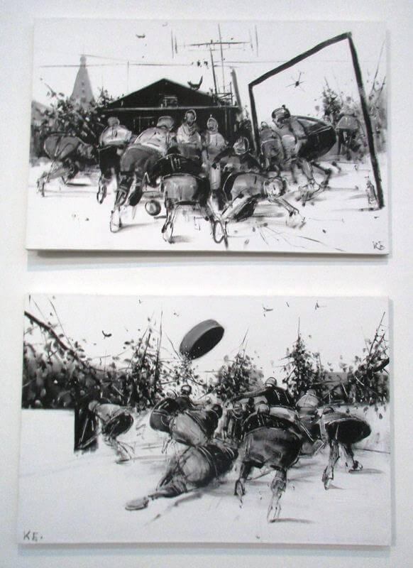 КОНСТАНТИН БАТЫНКОВ. Выставка Футбол - хоккей в Центре современного искусства Винзавод.