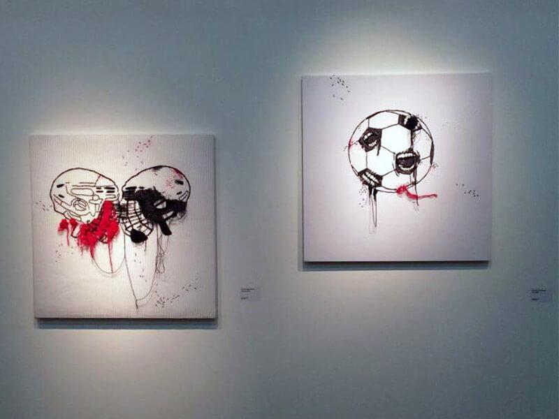 ТАТЬЯНА АХМЕТГАЛИЕВА. Скрежет и Шум, 2016. Выставка Футбол - хоккей в Центре современного искусства Винзавод.