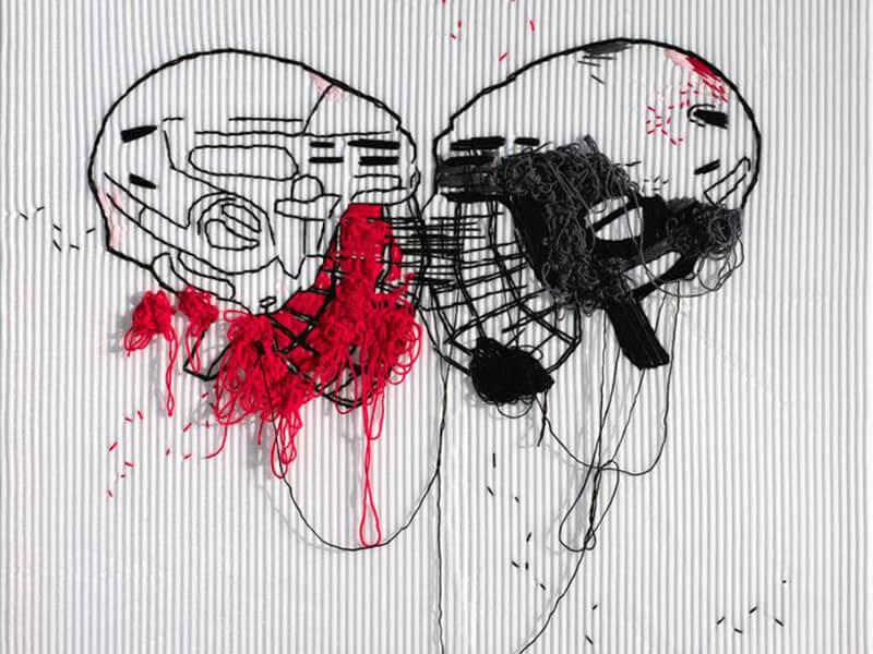ТАТЬЯНА АХМЕТГАЛИЕВА. Скрежет, 2016. Выставка Футбол - хоккей в Центре современного искусства Винзавод.